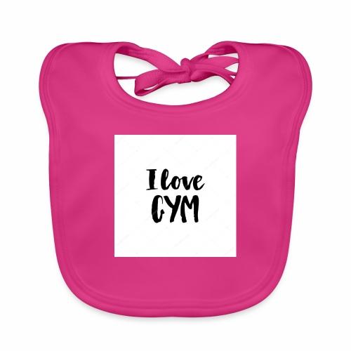 I love gym - Ekologisk babyhaklapp
