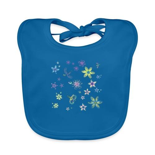 flowers and butterflies - Bavaglino ecologico per neonato