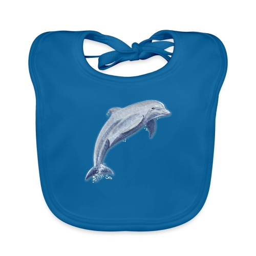 Delfin Glückssprung - Baby Bio-Lätzchen