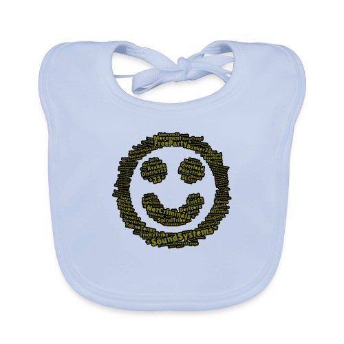 soundsystem smile green - Baby Bio-Lätzchen