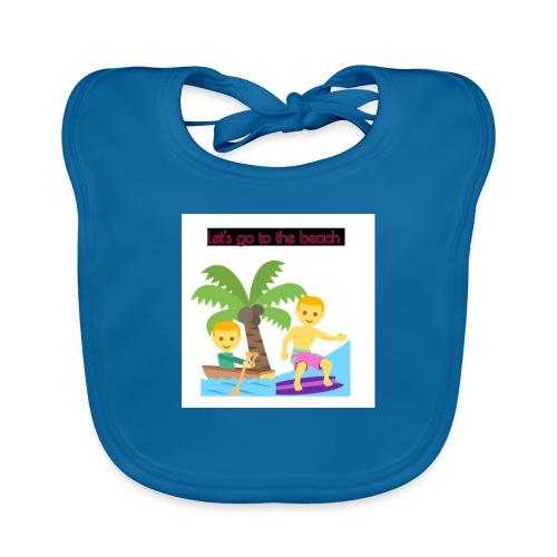 beach - Ekologisk babyhaklapp