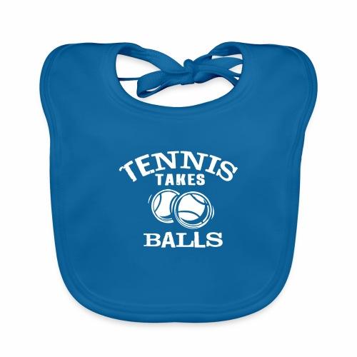 Tennis nimmt Baelle - Baby Bio-Lätzchen