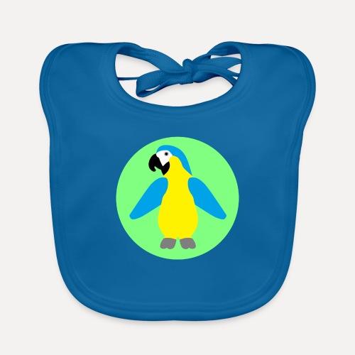 Yellow-breasted Macaw - Organic Baby Bibs