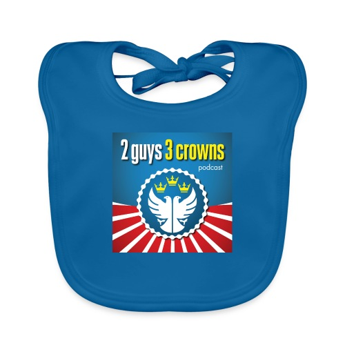 Official 2 Guys 3 Crowns Logo - Organic Baby Bibs
