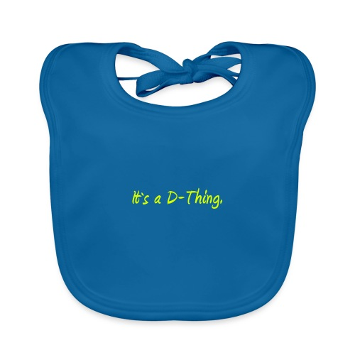 DTWear - It`s a D-Thing - Yellow / Geel - Bio-slabbetje voor baby's