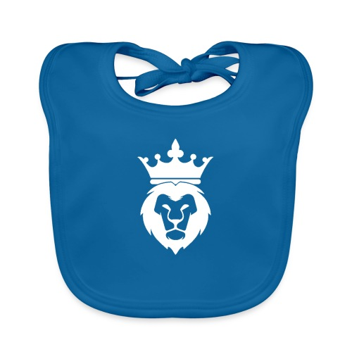 Lion_Logo_with_Crown_St--rre_bild_-white- - Ekologisk babyhaklapp