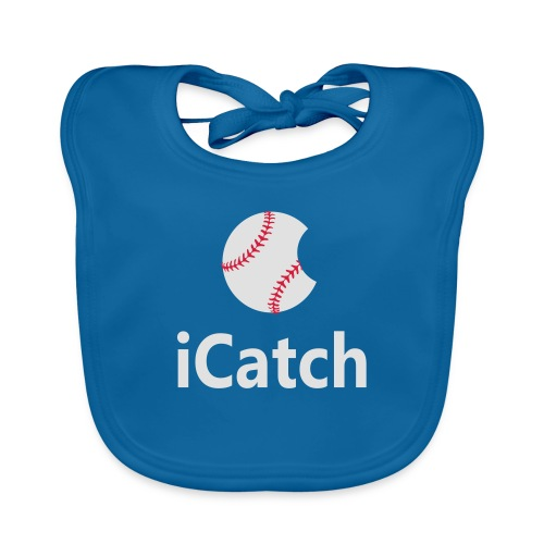 Baseball Logo iCatch - Organic Baby Bibs