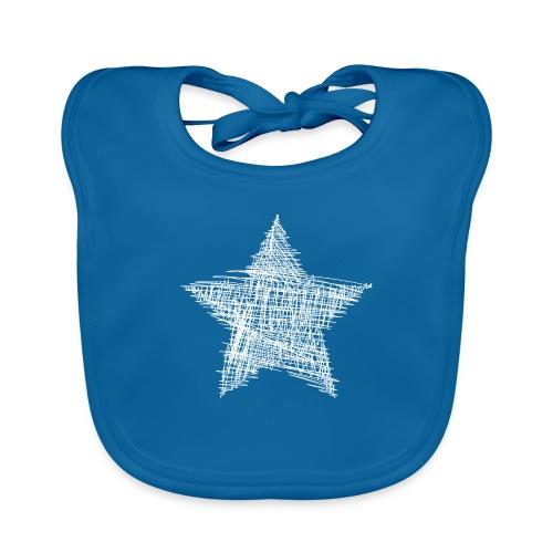 Estrella blanca - Babero de algodón orgánico para bebés