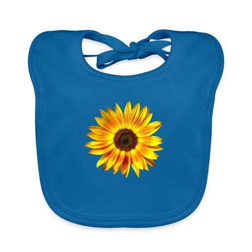 Sonnenblume gelb Sommer - Baby Bio-Lätzchen