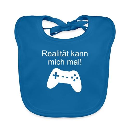 Zocker Gamer Realität Gaming Spruch - Baby Bio-Lätzchen