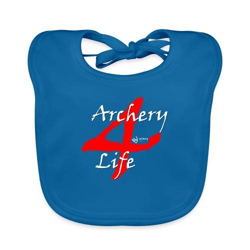 Archery4Life white - Baby Bio-Lätzchen
