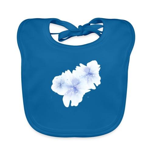 blue flowers - Ekologiczny śliniaczek