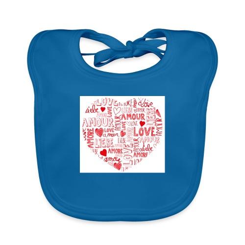 T-shirt texte amour - Bavoir bio Bébé