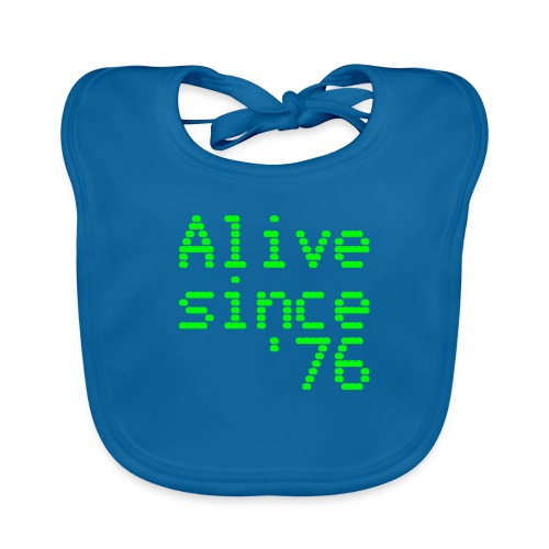 Alive since '76. 40th birthday shirt - Baby Organic Bib
