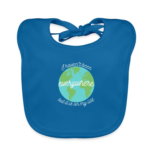 Travel the World - Ekologisk babyhaklapp