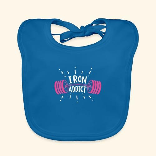 Iron Addict I VSK Funny Gym Shirt - Baby Bio-Lätzchen