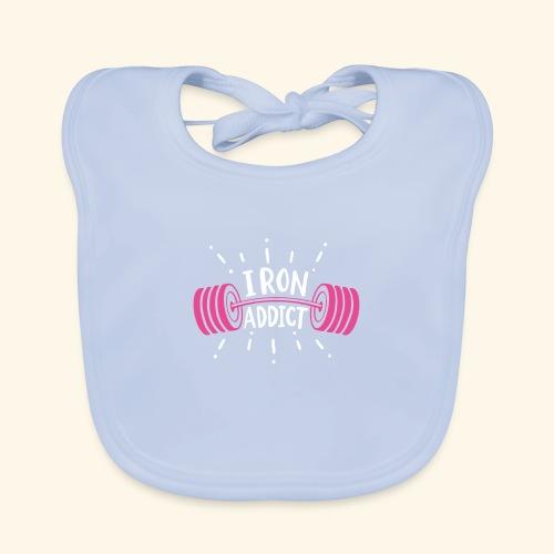 VSK Lustiges GYM Shirt Iron Addict - Baby Bio-Lätzchen