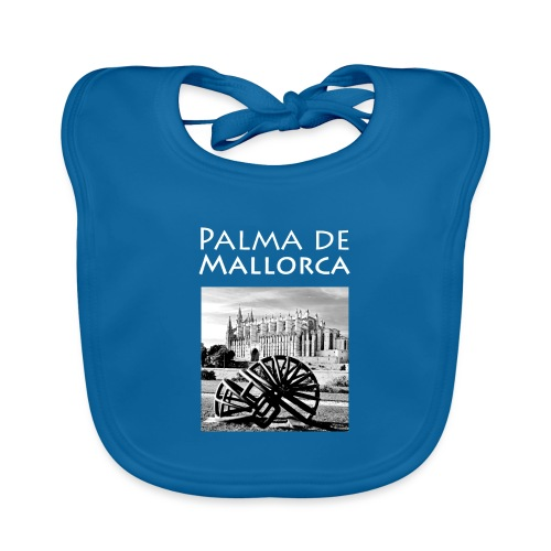 Palma de Mallorca mit Cathedrale Heiligen Maria - Baby Bio-Lätzchen
