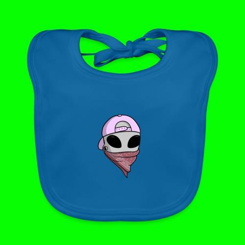 gangsta alien logo - Bavaglino ecologico per neonato