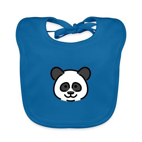 panda head / cabeza de panda - Babero de algodón orgánico para bebés