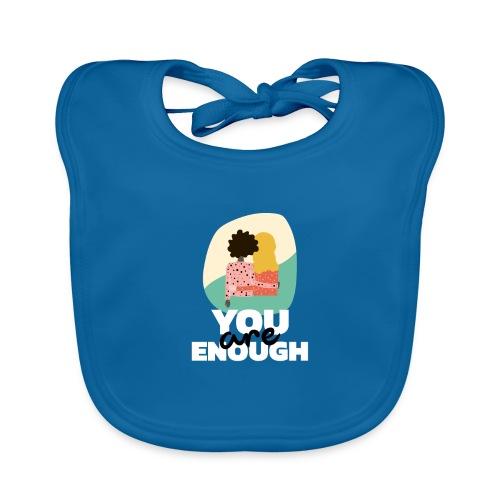 t shirt design template featuring two women suppor - Babero de algodón orgánico para bebés