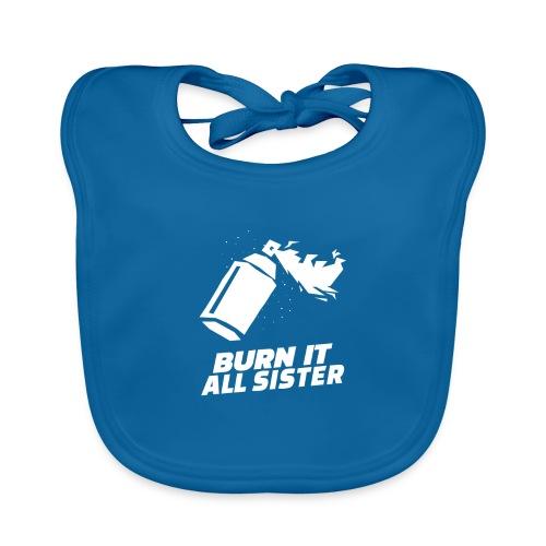 feminist themed t shirt design maker featuring - Babero de algodón orgánico para bebés