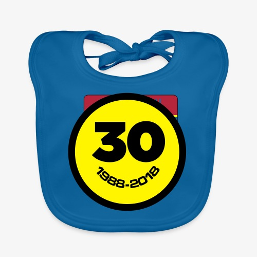 30 Jaar Belgian New Beat Smiley - Bio-slabbetje voor baby's