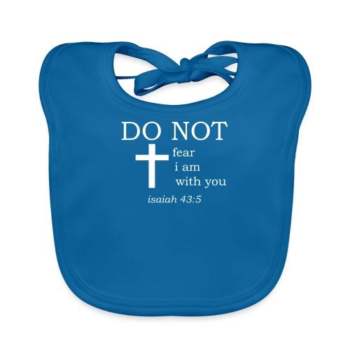 'DO NOT' t-shirt (white) - Organic Baby Bibs
