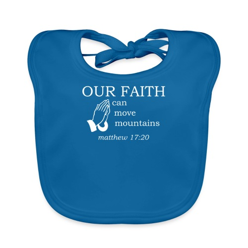 'OUR FAITH' t-shirt (white) - Organic Baby Bibs