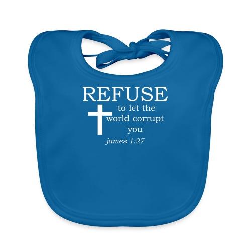 'REFUSE' t-shirt (white) - Organic Baby Bibs