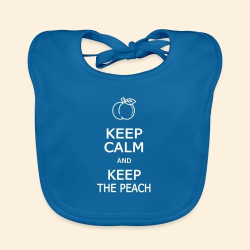 Teddy Keep calm and Keep The Peach - Bavoir bio Bébé