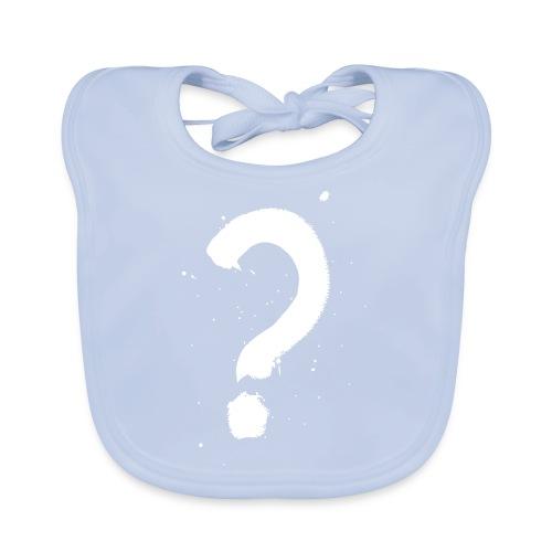 Kysymysmerkki valkoinen - Vauvan ruokalappu