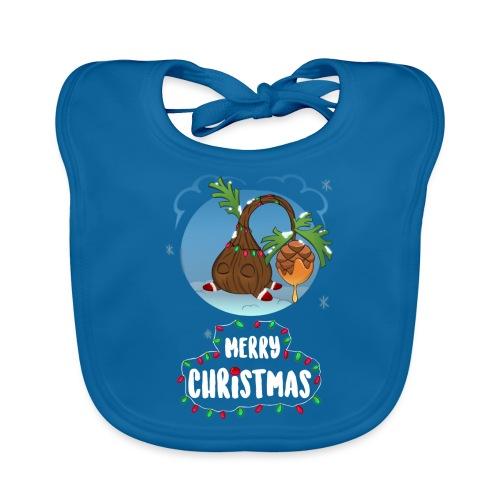 Pino navideño - Babero de algodón orgánico para bebés