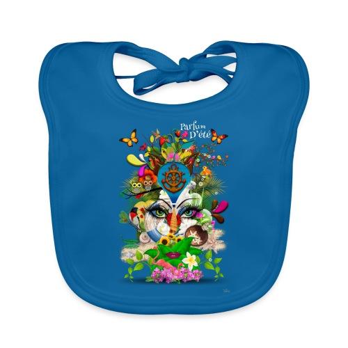 Parfum d'été by T-shirt chic et choc (tissu foncé) - Bavoir bio Bébé
