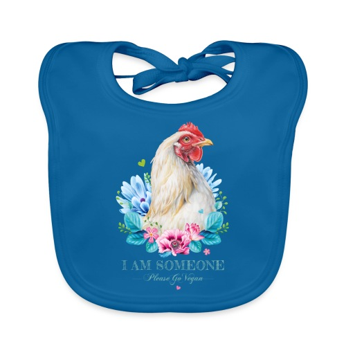 Hen with flowers - Organic Baby Bibs