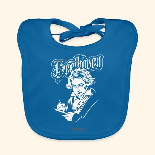 Beethoven mit Notenblatt - Baby Bio-Lätzchen