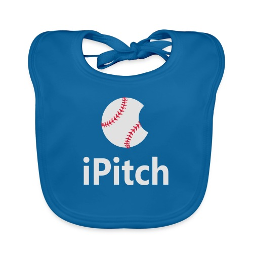 Baseball Logo iPitch - Organic Baby Bibs