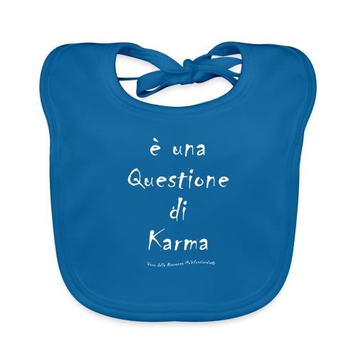questione di Karma Bianco - Bavaglino ecologico per neonato