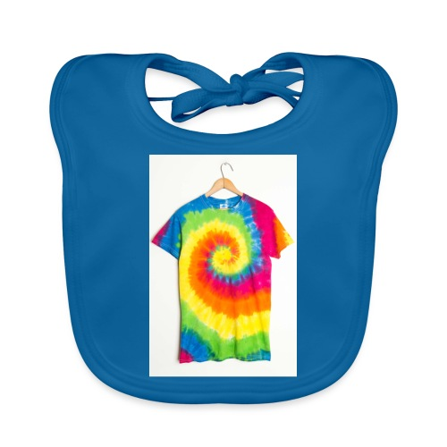 tie die small merch - Baby Organic Bib