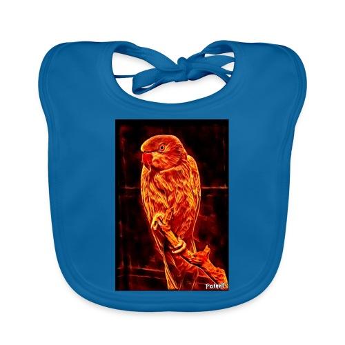 Bird in flames - Vauvan luomuruokalappu