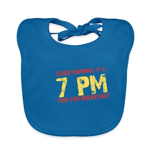 T-Shirt für Langschläfer und Party People - 7 pm - Baby Bio-Lätzchen