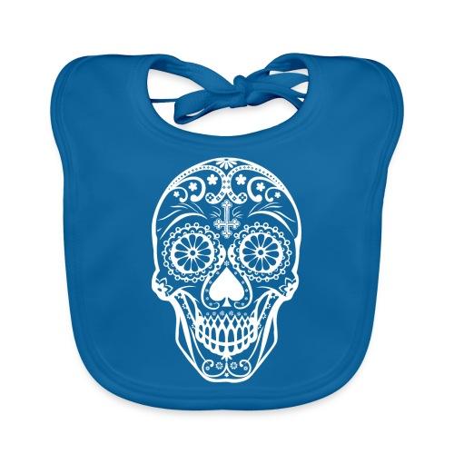 Skull white - Baby Bio-Lätzchen