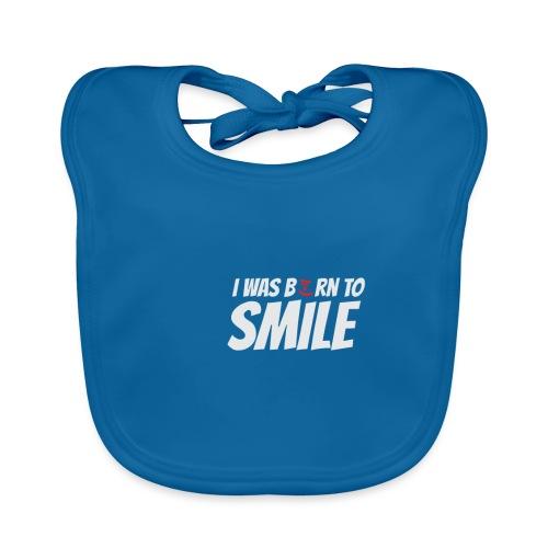 Gute Laune Shirt I was born to smile - Grinsbacke - Baby Bio-Lätzchen