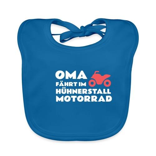 Lustiges T-Shirt Oma fährt im Hühnerstall Motorrad - Baby Bio-Lätzchen