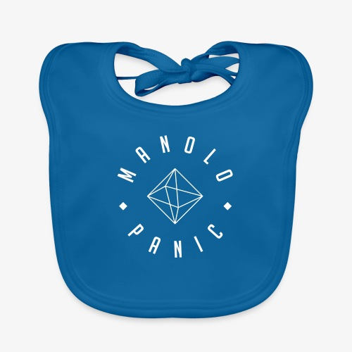 Manolo Panic - Logo fine - Baby Bio-Lätzchen