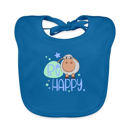 Be happy sheep - Happy sheep - lucky sheep - Baby Organic Bib