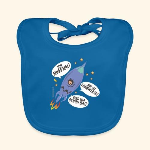 Lustiges T Shirt Design Kleiner Astronaut - Baby Bio-Lätzchen