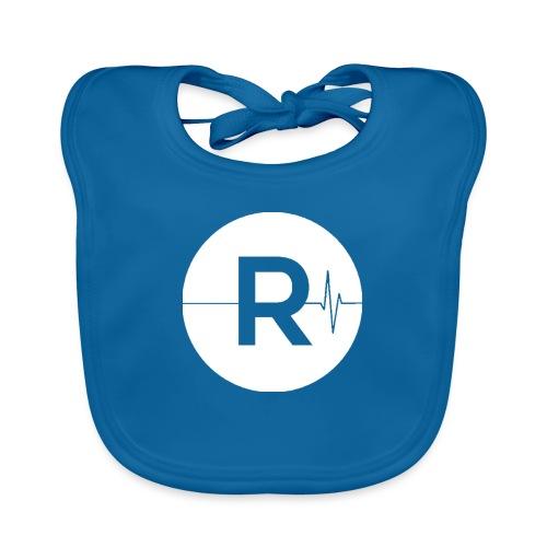 REVIVED Small R (White Logo) - Baby Organic Bib