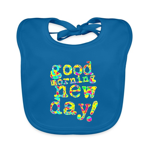 good morning new day yellow and red - Bio-slabbetje voor baby's
