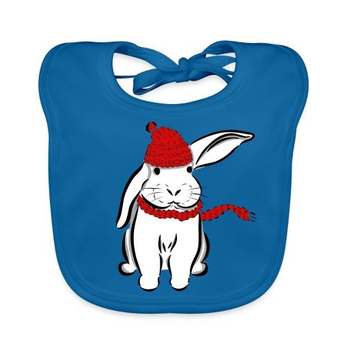 Kaninchen Hase Mütze Schal Schlappohr Schneehase - Baby Bio-Lätzchen